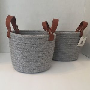 ROPE BASKETS Bundle of 2 - NWT